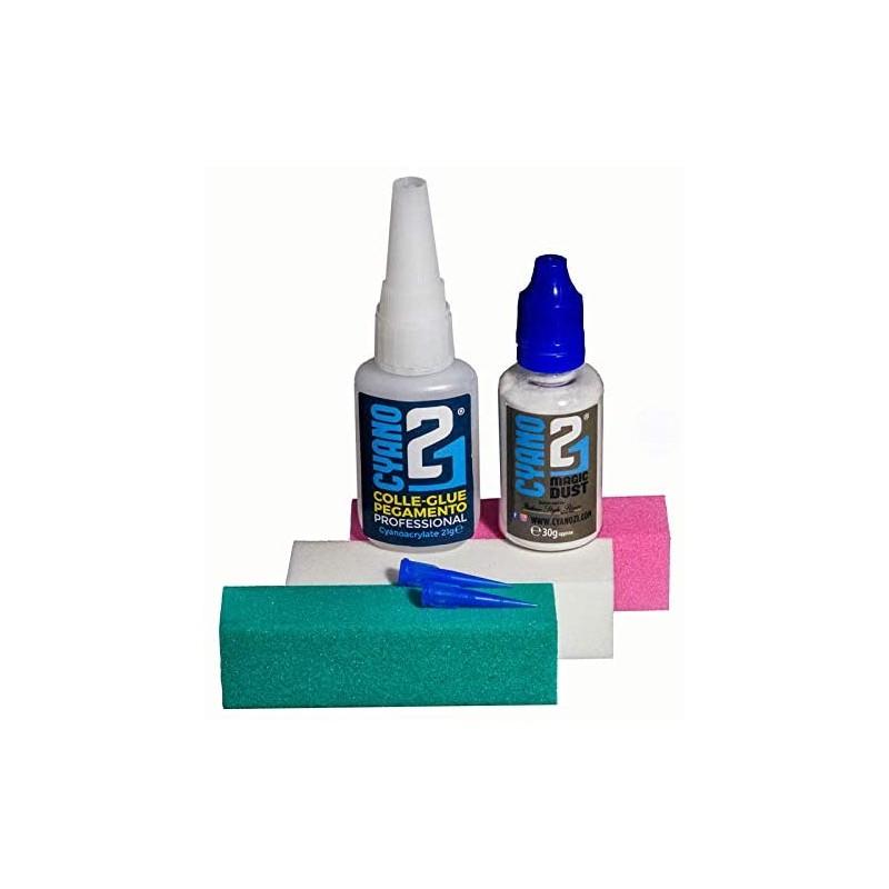 Colle21 - Kit base 21, glue, poudre & limes